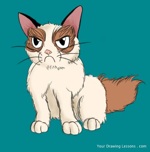 Grumpy Cat Drawing | by Matt Leyva