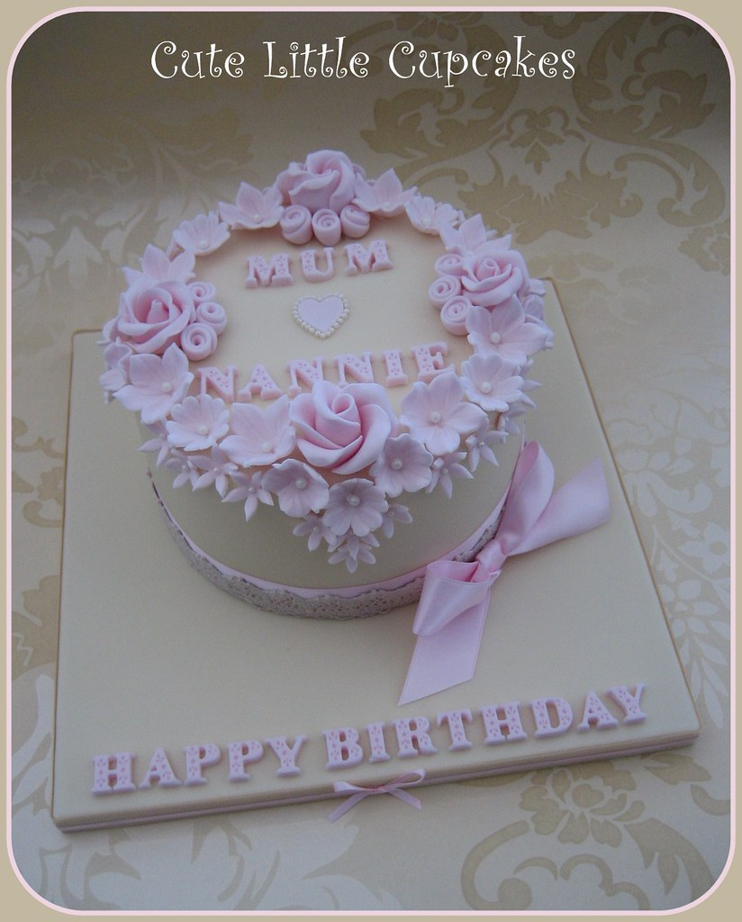 Shabby Chic Birthday Cake Heidi Stone Flickr
