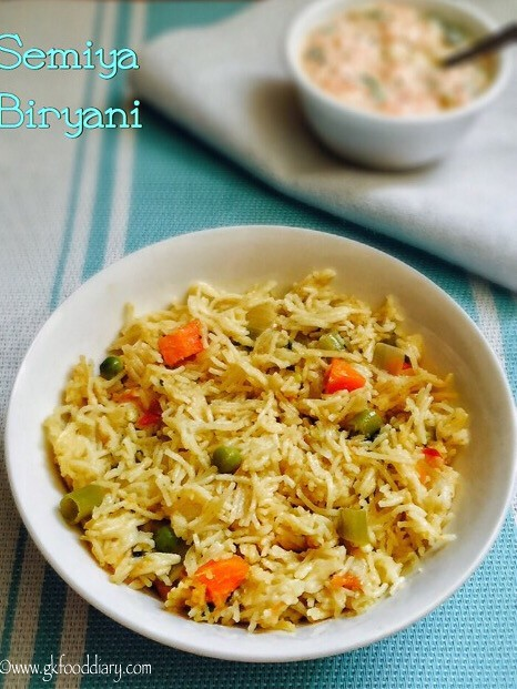 Semiya Biryani Recipe For Toddlers and Kids2