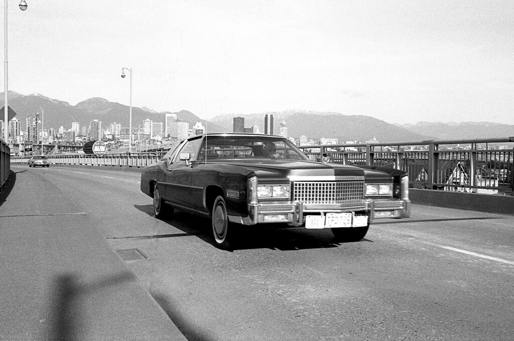 Cadillac On The Fir Street Off Ramp Vancouver 1975 Flickr