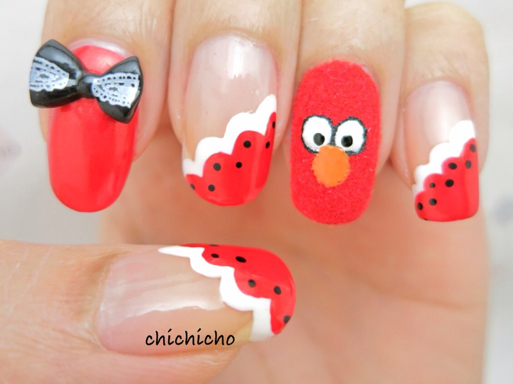 Fuzzy Elmo Nail Art   Pls come like our page at www.facebook…   Flickr