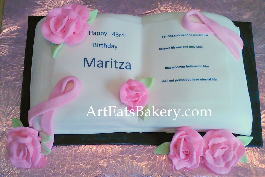 Bible 3d Birthday Cake With Bible Verse Breast Cancer Pin Flickr