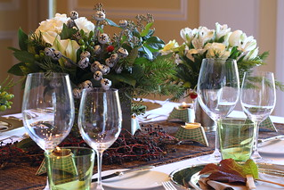 Jordan Winery Holiday Dinner Table | by jordanwinery.com