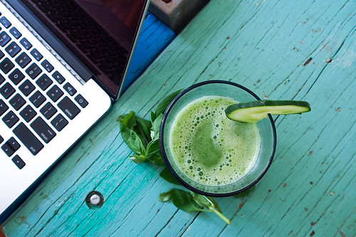 Morning juice next to Macbook | by londoncyclist