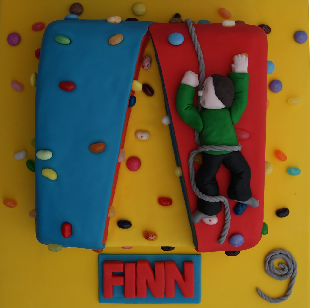 Climbing wall cake for an indoor climbers birthday sweet flickr climbing wall cake by cakes by occasion gumiabroncs Gallery