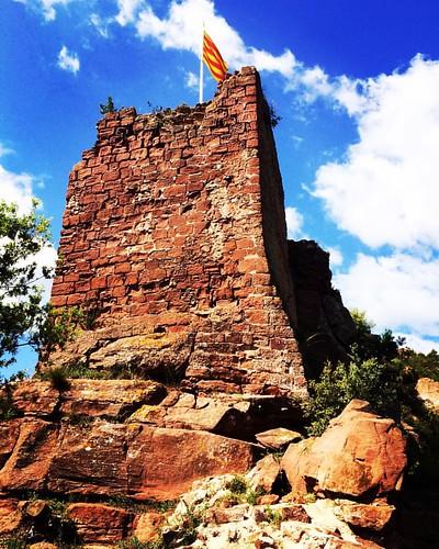 Senyera dalt del #Castell de #Cervelló #BaixLlobregat