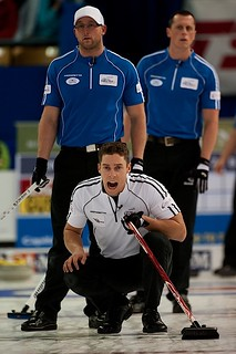 Brett Gallant calls on the sweepers while Ryan & E.J. Harnden watch | by seasonofchampions