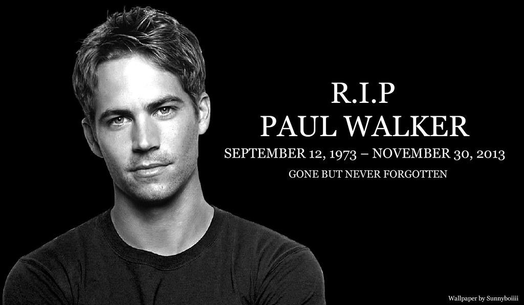 In Loving Memory Of Paul Walker Wallpaper By Sunnyboiiii