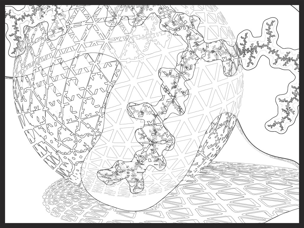Fractal coloring book | Fractal coloring book. Images create… | Flickr