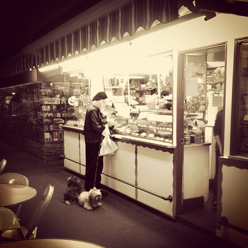 Dog lady.. #farmersmarket #grove #losangeles | by Isabella *Photos