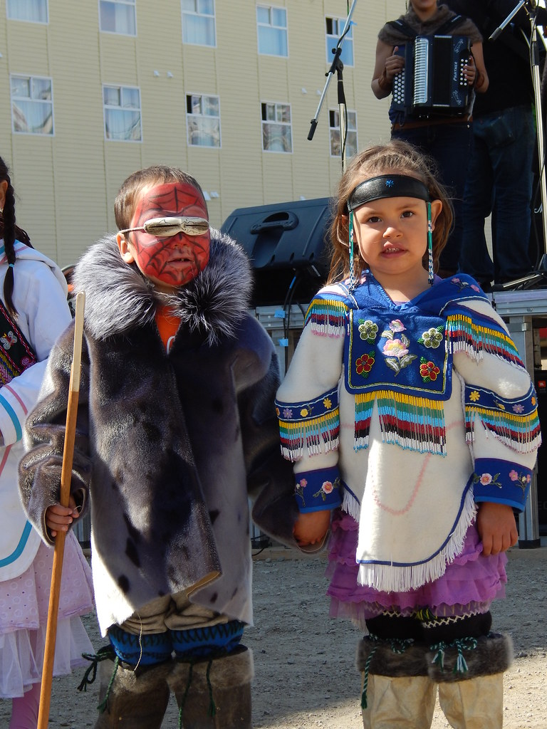 traditional inuit clothing at nunavut day children wearing u2026 flickr