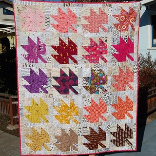 My #modernmaples quilt bound, washed and photographed!  #quilt #modernquilting | by Mermaid Sews
