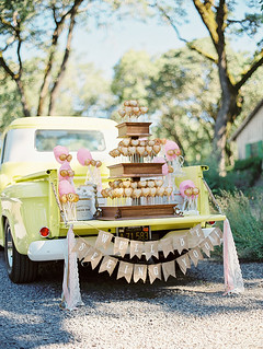 Pie Pop and Cotton Candy Display on a Vintage Truck | by Sweet Lauren Cakes