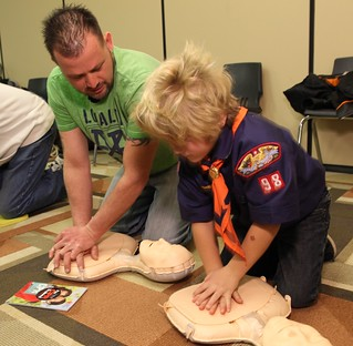 Hands-Only CPR training - 2/1/14 | by Penn State Hershey