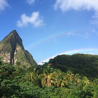 Hints of a double perfect rainbow in St Lucia | by Downtown Traveler