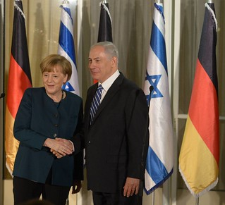 Meeting of Prime Minister Benjamin Netanyahu and his wife Sarah with German Chancellor Angela Merkel in Jerusalem | by Prime Minister of Israel