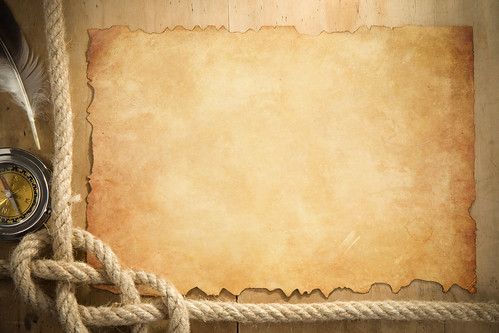 ship ropes and compass at parchment old paper | ship ropes ...