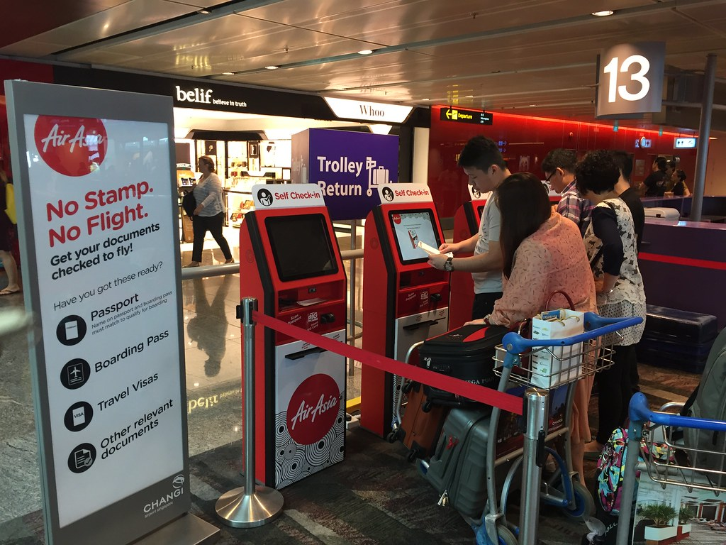 Checkin Online Use Kiosk And Queue For Stamp For Airasia Flickr