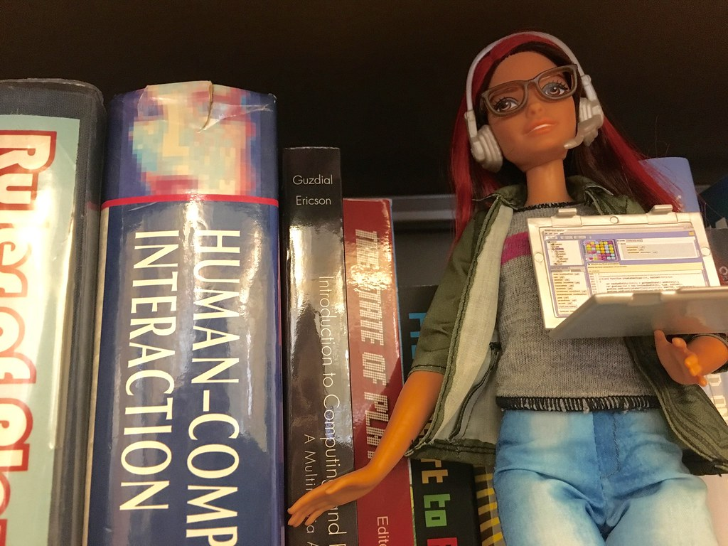 Game Developer Barbie Bookshelf 1