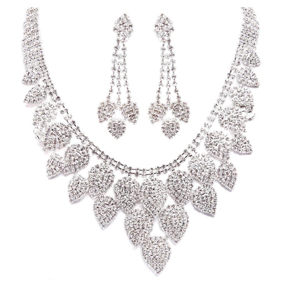 Luxury silberne Halskette der weißen Hochzeitskleid | Flickr