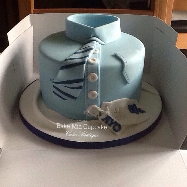 men s shirt cake made for a clients husband s 50th a b flickr