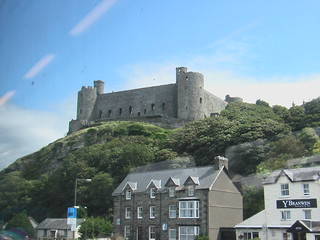 Harlech castle from a Cambrian Coast Line train