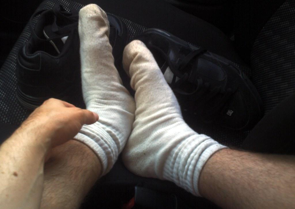 Socks are really sweaty today.  Damn heat!