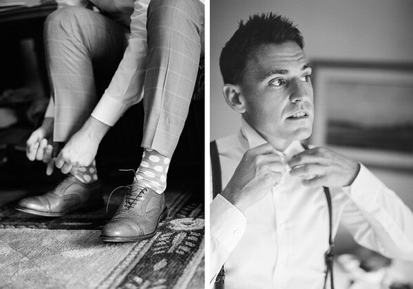 WG Well-Groomed Groom Damien Tie Socks Shoes