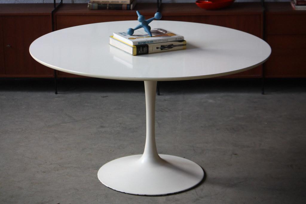 ... Heroic Mid Century Modern Burke Tulip Table And Swivel Propeller Base  Fiberglass Chairs (U.S.A.,