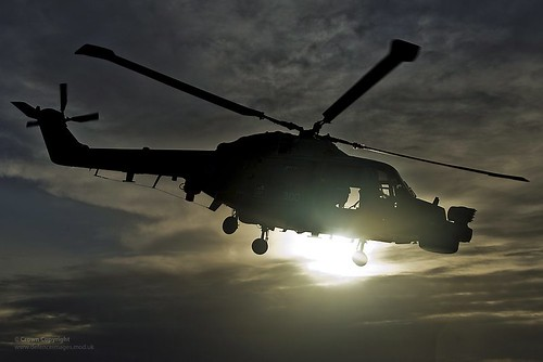 Royal Navy Lynx Helicopter - Pictured: HMS Lancaster