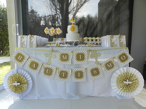 Cake Table Decoration For Baptism