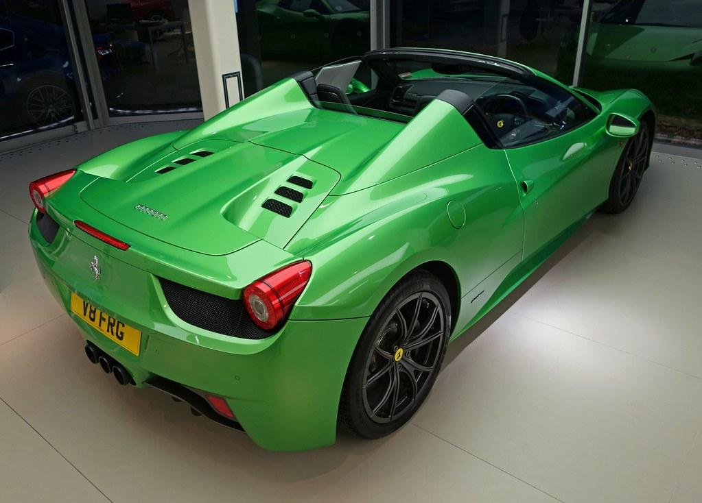 verde kers lucido green ferrari 458 spider by czd72 - Ferrari 458 Spider Green