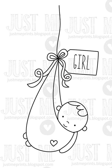 brand new baby {just ME digital stamps}