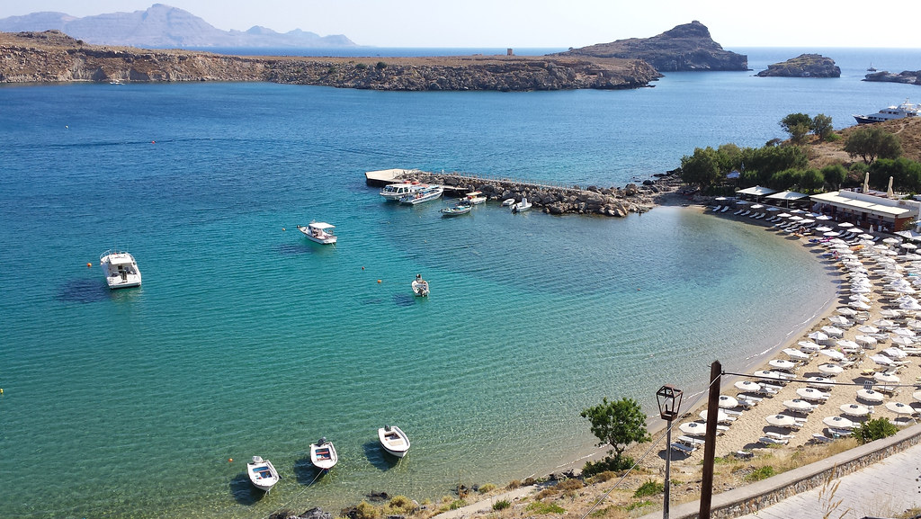 Lindos Bay - Europe most beautiful beaches