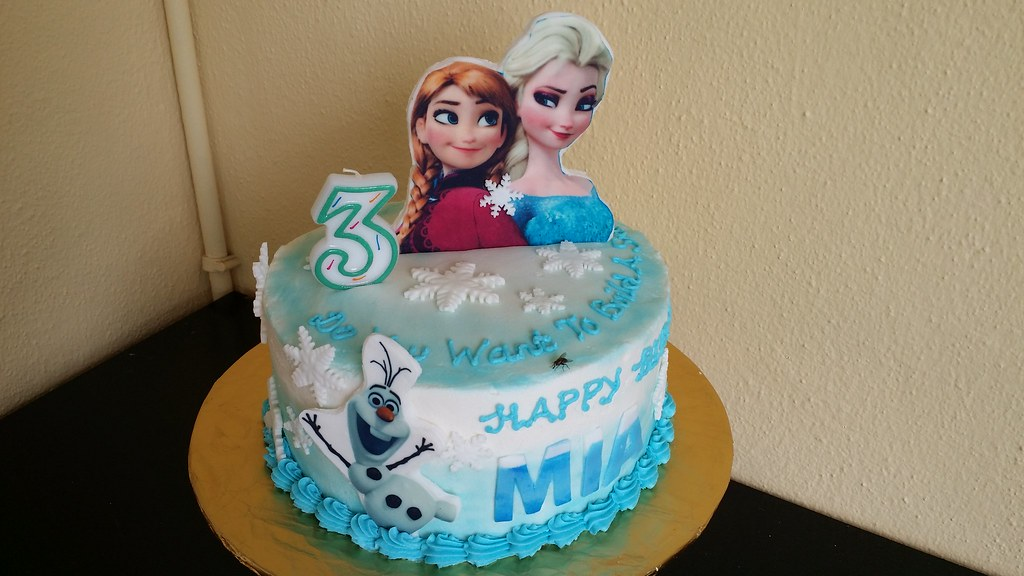 Frozen Themed Birthday Cake Chloe Thean Flickr