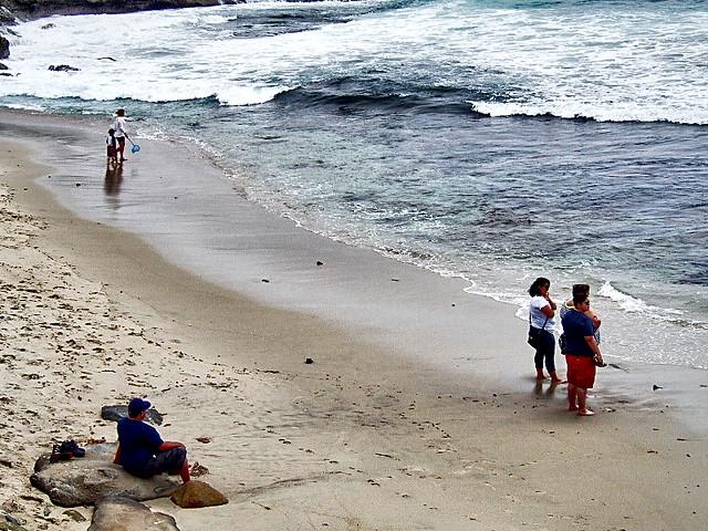Family Beach Stroll