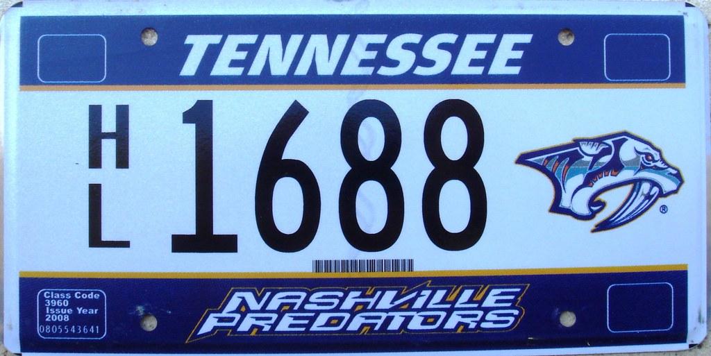Nashville Predators (Tennessee) License Plate Hockey NHL   Flickr