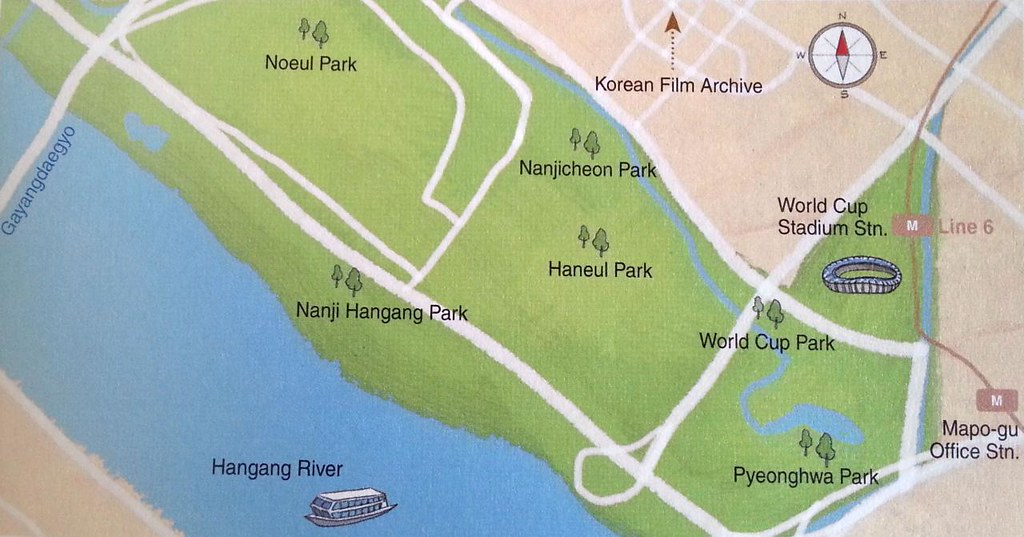 Map Of Parks Near Seoul World Cup Stadium Noeul Park Nan Flickr