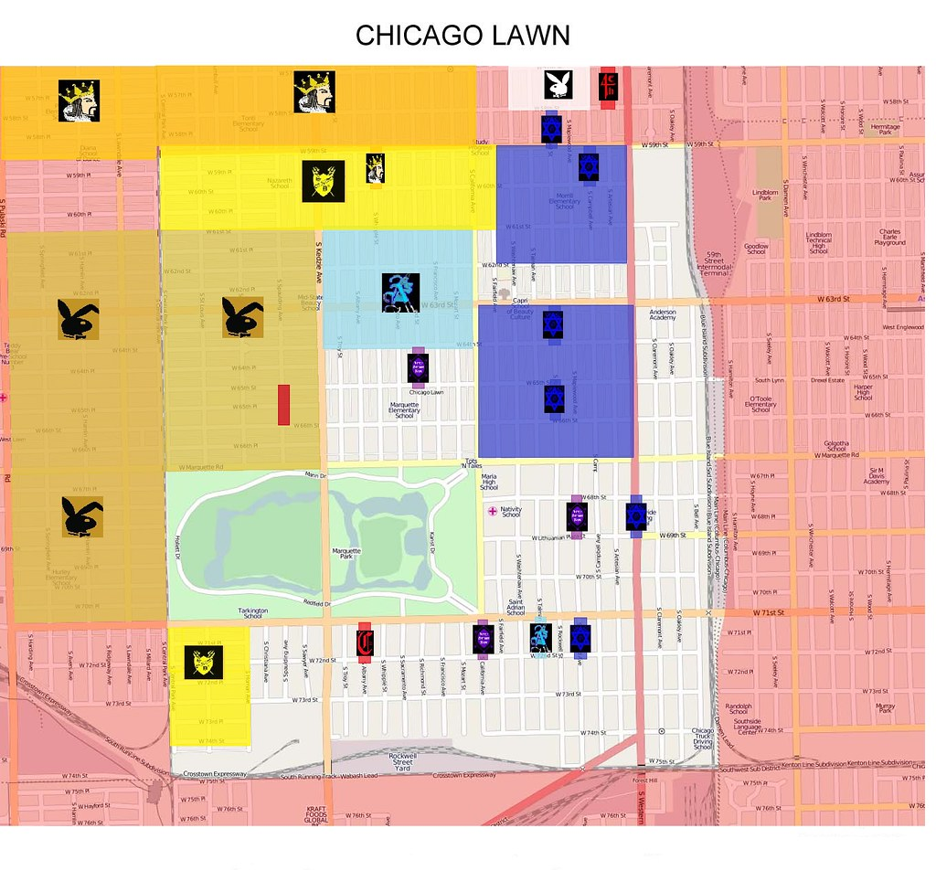 Mapping Out Chicago Gangs NBC Chicago Are Little Village Youth - Los angeles map gangs