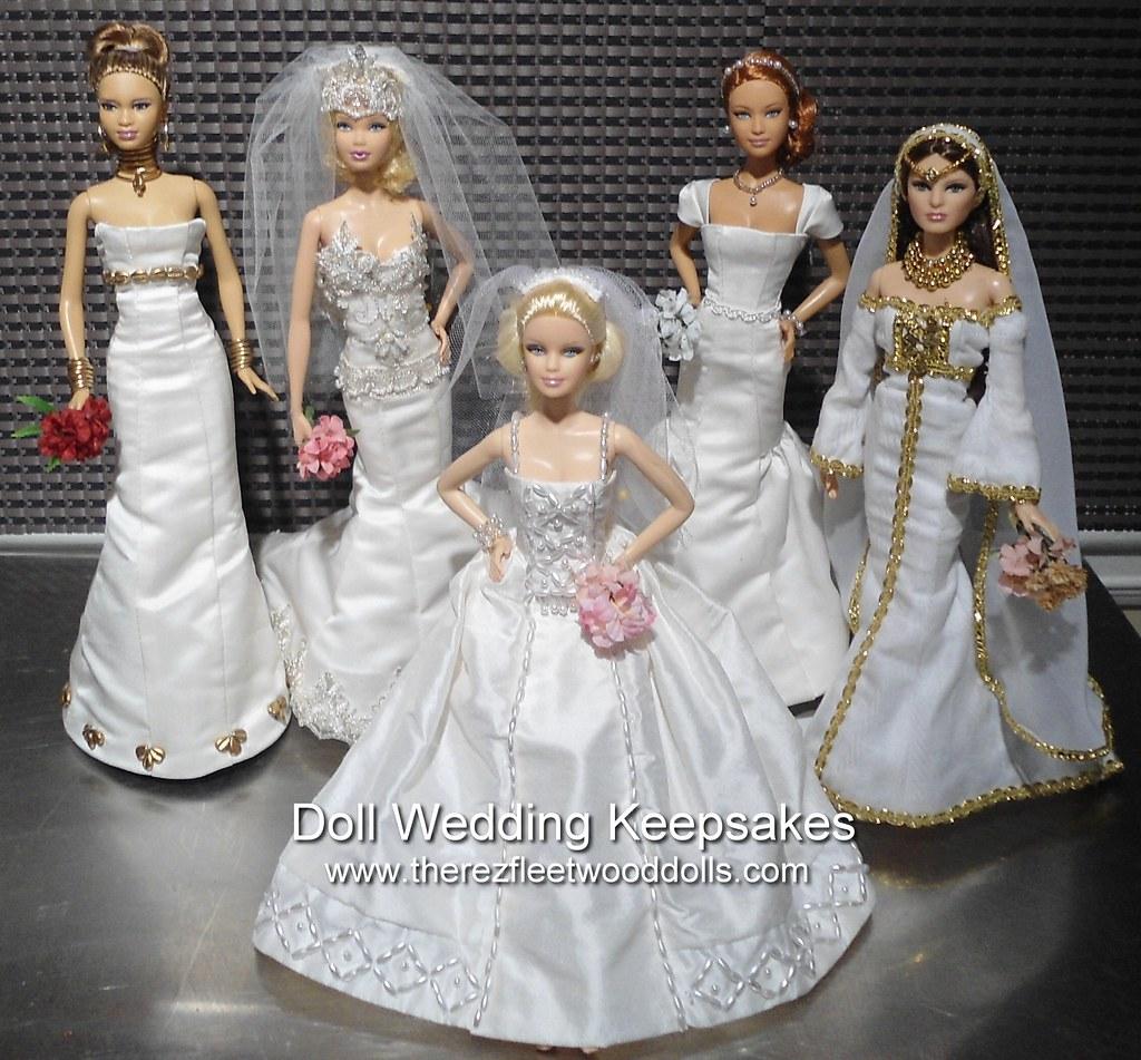 Barbie Dolls Wedding Dresses Custom Made Wedding Dresses F Flickr