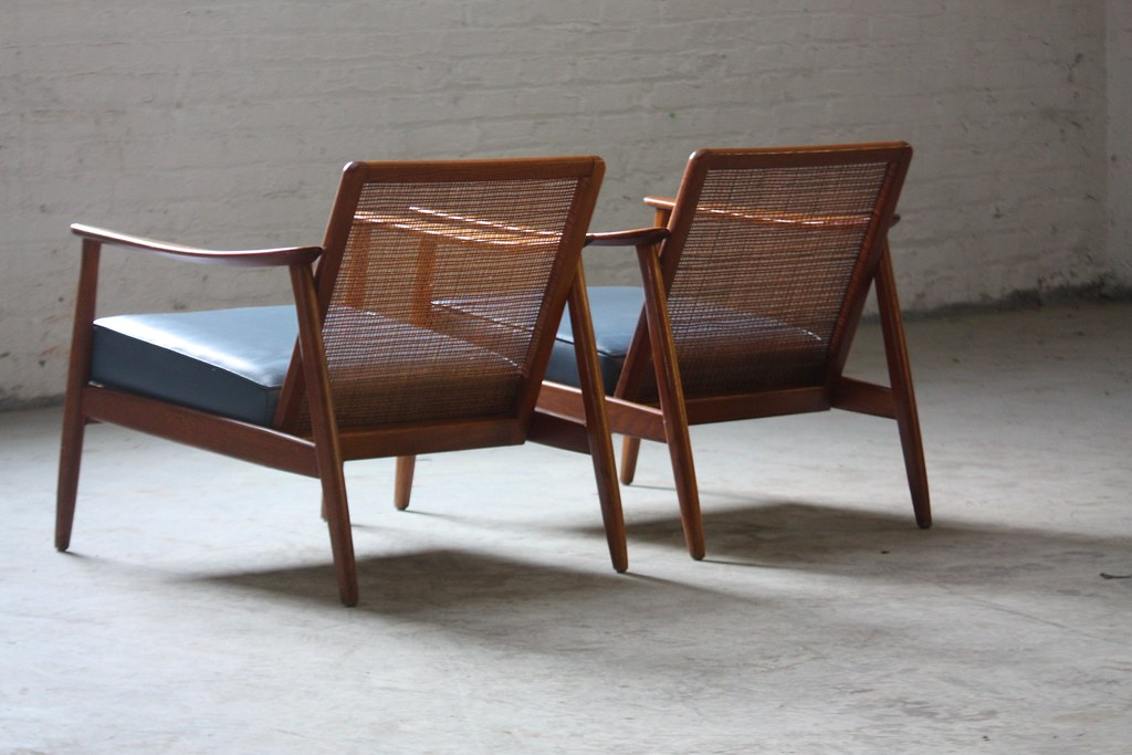 ... Arm Candy Folke Ohlsson Scandinavian Mid Century Modern Caned Back  Lounge Chairs For Dux (1960s