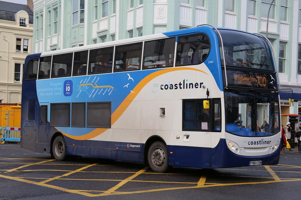 By Gobbiner Stagecoach South 15985 YN64XSM In Brighton On The 700 Coastliner Service