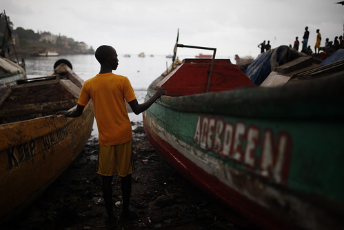 Fishermen and Ebola survivor has had difficulties finding steady work after recovering from Ebola | by World Bank Photo Collection