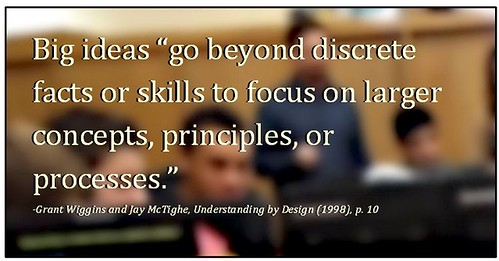 "Big Ideas go beyond discrete facts or skills to focus on larger concepts, principles, or process"" (Credits: Ken Whytock)"