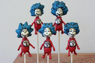 Thing 1 and Thing 2 Cake Pops | by Sweet Lauren Cakes