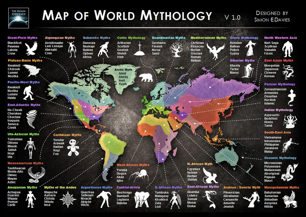 Map of World Mythology by