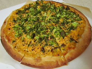 Broccoli and Cheddar Pizza