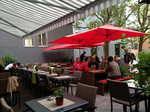 Restaurant with outdoor furniture in europe