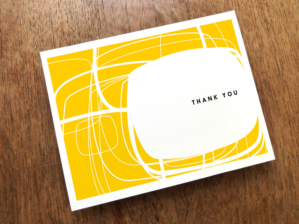 Mid Century Modern Thank You Card You Can Download It From Flickr