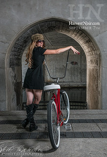 sarah-with-bike | by Harvest Noir 2015